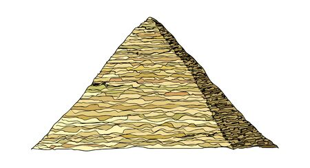 remains: vector illustration: landmark
