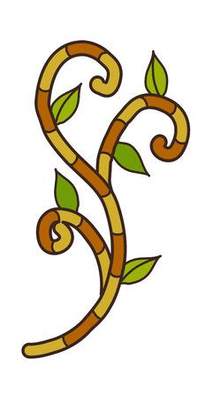 a sprig: vector illustration: plants Illustration