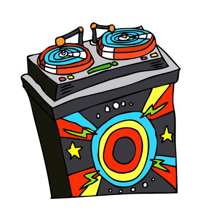 disk jockey: vector illustration: music