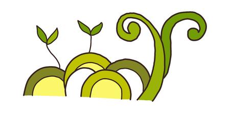 children's story: vector illustration: plants Illustration