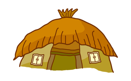 thatched: vector illustration: house Illustration