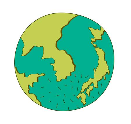 vector illustration: earth