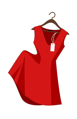 Concept of a  Vector Illustration:  red dress -clothing