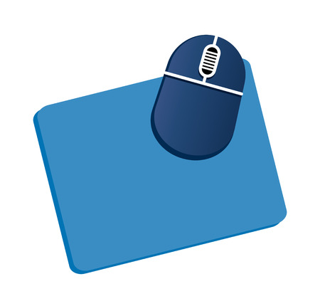 Concept of a  Vector Illustration: mouse and a pad - technology Illustration