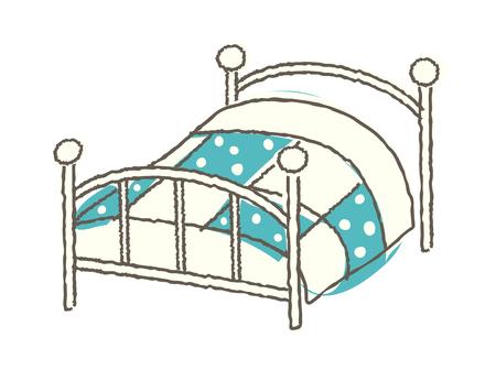 literas: Artistic concept of a Vector Illustration: bed- room Vectores