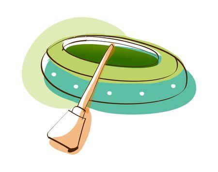 Vector Illustration: raft