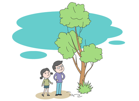 Happy family vector illustration. Illustration