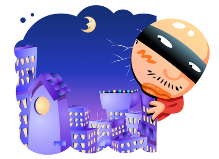 theif: Crime concept vector illustration.