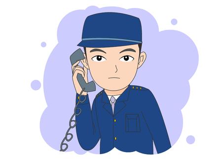 Crime concept vector illustration.
