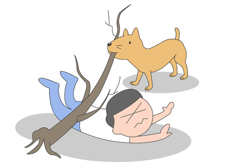 Service dog vector illustration.