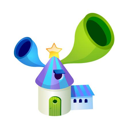 children's story: Vector Illustration: house