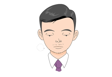 Business man character vector illustration.
