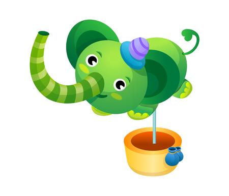 children's story: Vector Illustration: animal