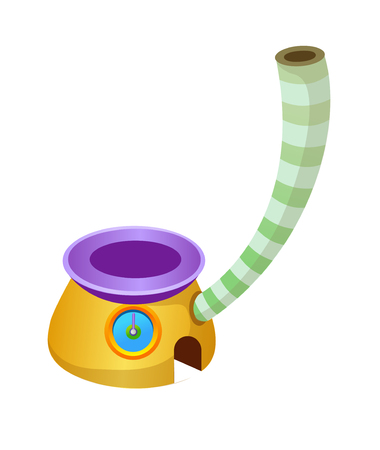 chimney pot: Vector Illustration: house