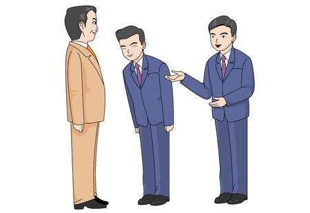 Illustrazione vettoriale di carattere di uomo d'affari.