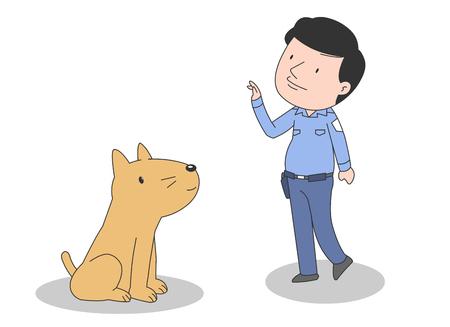 Ilustración del vector del perro del servicio.