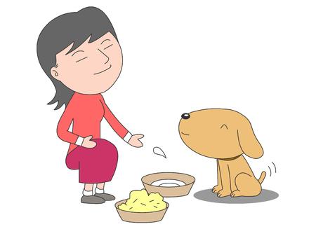 Illustrazione vettoriale cane di servizio. Vettoriali