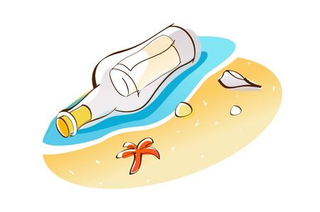 Vector Illustration: bottle