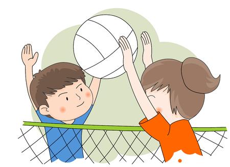 Volleyball Playing Illustration 版權商用圖片 - 74900167