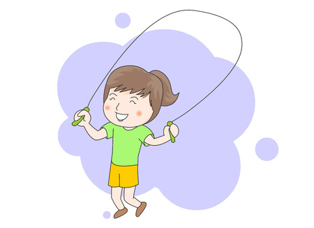 Jump roping Illustration