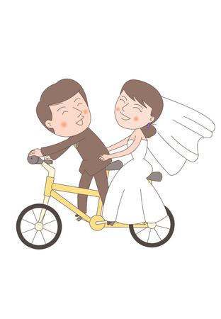 Newlyweds In Love 向量圖像