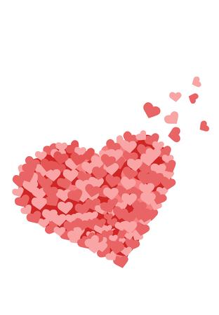 Mini Hearts Making A Big Heart