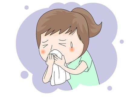 病気: 寒い  イラスト・ベクター素材
