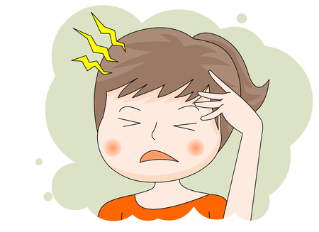 Sick: headache Illustration