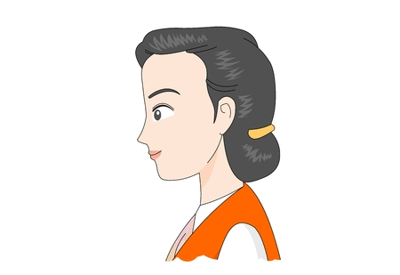 Female worker in uniform vector illustration