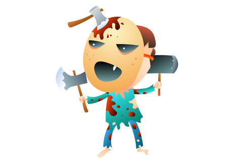 Halloween monster Illustration