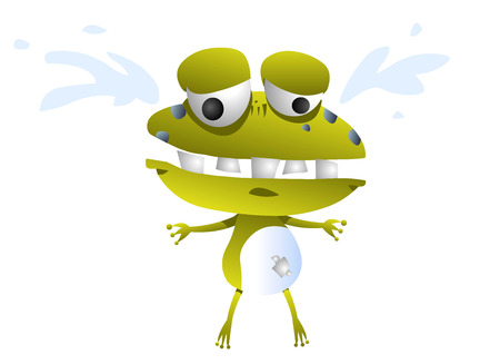 dissatisfaction: Frog animation character crying