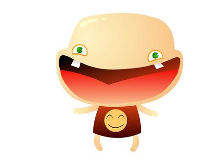 Baby lacht Stock Illustratie