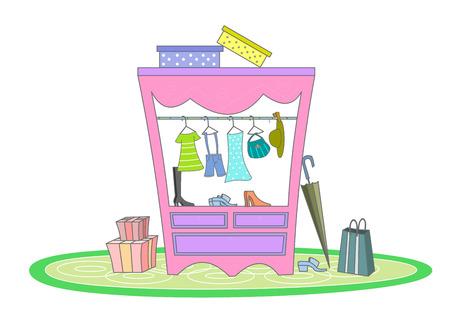 Closet full of clothes