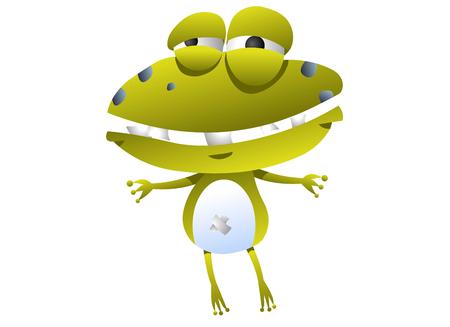Frog animation character crying