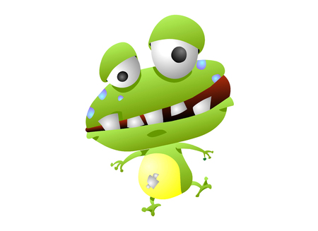 dissatisfaction: Frog animation character with bad teeth