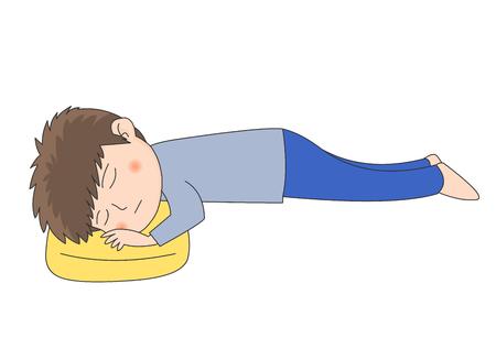 Boy sleeping Illustration