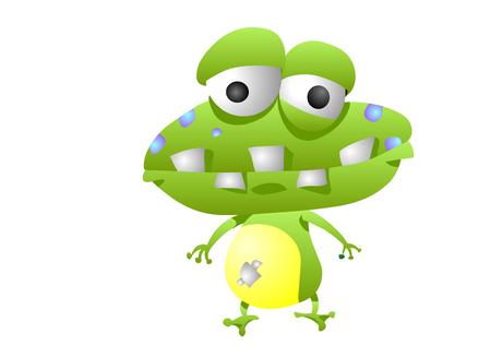 cheeky: Frog animation character with bad teeth