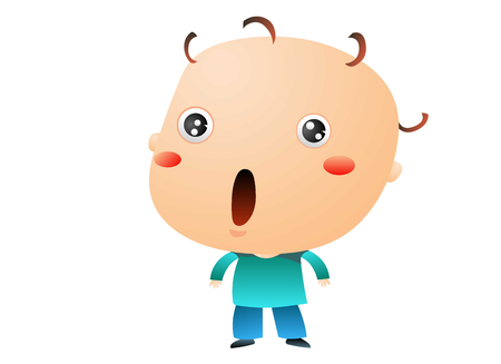 Baby surprised Illustration