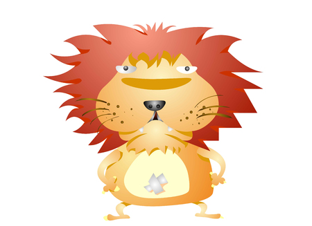 Wild looking lion Ilustrace