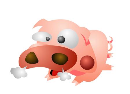 Wild looking pig