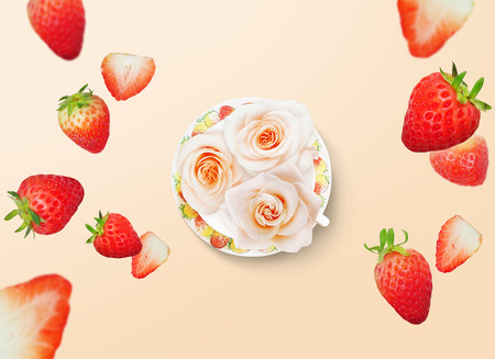 plating: food collage background