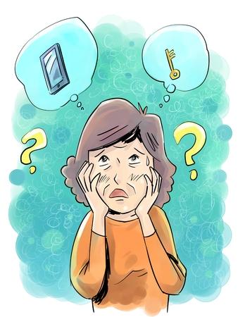 アルツハイマー病と歳の女性