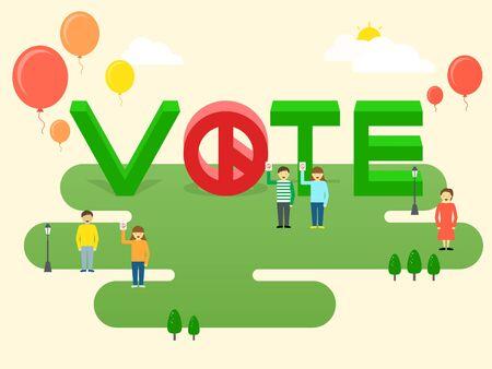 投票の概念ベクトル図