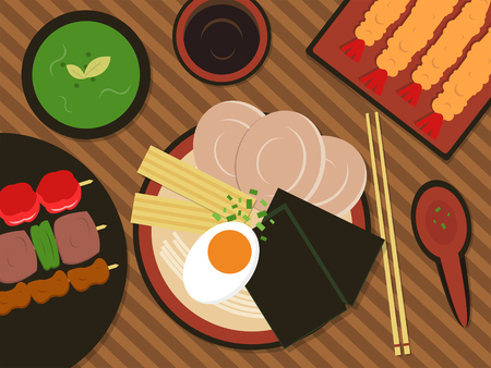 Food vector illustration_ramen