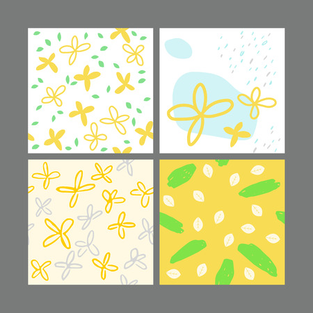 forsythia: Geometric patterns vector illustration Illustration