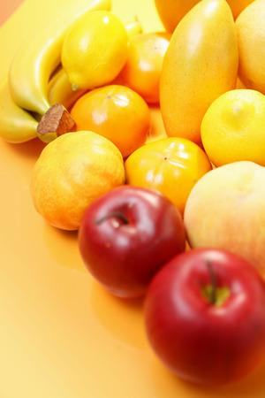 Fruit background, round Stock Photo