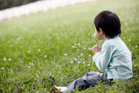 Child out in field