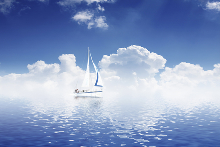 humble: Yacht Stock Photo