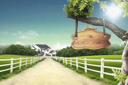 humilde: Casa - 3D Foto de archivo