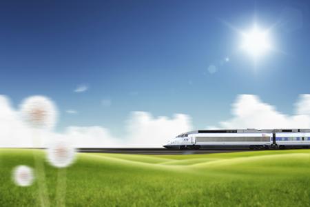 Express train Stock Photo